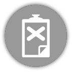 Clipboard with x mark icon