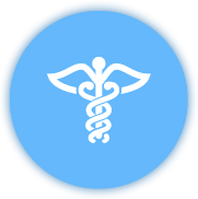 Caduceus medical sign icon